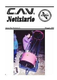 Anno IX, Numero 2 M aggio 2001 - Circolo Astrofili Veronesi