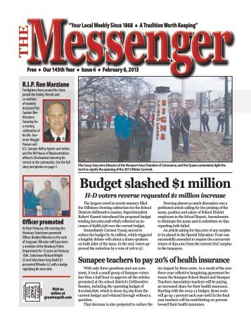 Download The Messenger – Feb. 8, 2013 (pdf) - Granite Quill ...