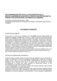 Raccomandazioni ONJBP - Amici di Brugg