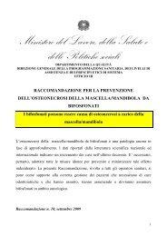 Raccomandazione per la prevenzione dell'osteonecrosi della ...