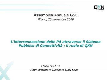 Interconnessione delle Pubbliche ... - Guide Share Italia