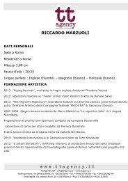 CV Riccardo Marzuoli - TTAgency