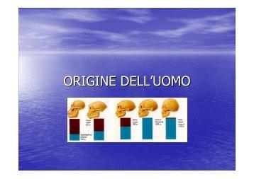 L'origine dell'uomo