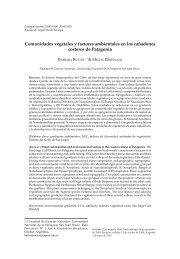 Comunidades vegetales y factores ambientales en los cañadones ...