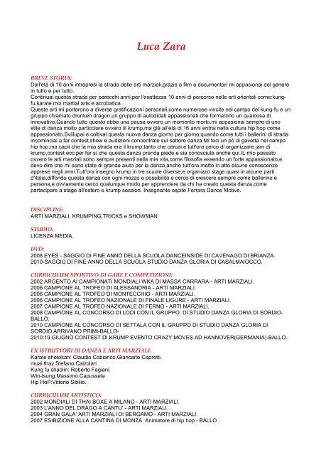 Scarica Curriculum Vitae Ferrara Dance Motive