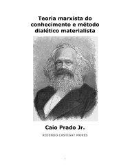 Teoria marxista do conhecimento e método dialético ... - eBooksBrasil