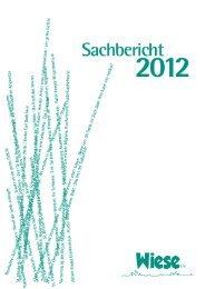 Sachbericht 2012 als PDF - bei der WIESE eV