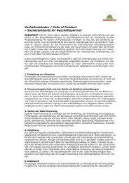Download WIESENHOF - Verhaltenskodex
