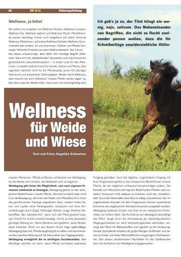 Wellness für Weide und Wiese - IPZV