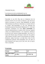 Neue Wies`n Hendl-Spieße ergänzen saisonales ... - Wiesenhof