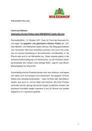 Gebräunte Chicken Flakes beim WIESENHOF Gastro Service ...