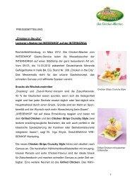 """1 PRESSEMITTEILUNG """"Chicken in the city"""" Leckerer ... - Wiesenhof"""
