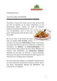 Exklusive Grillneuheiten zum weltmeisterlichen ... - Wiesenhof