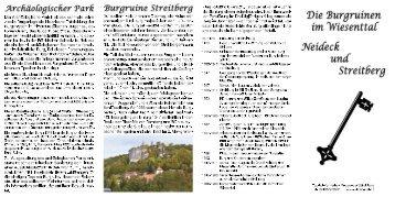 Die Burgruinen im Wiesenttal