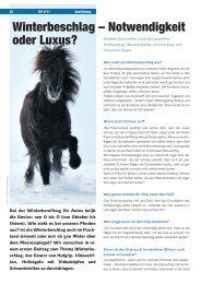 Winterbeschlag – Notwendigkeit oder Luxus? - IPZV