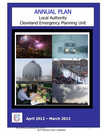 Annual Plan 2012-13 - Cleveland Emergency Planning Unit
