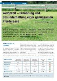 Weidezeit – Ernährung und Gesunderhaltung einer ... - IPZV