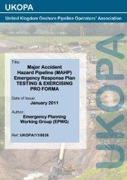 ukopa/11/0036 - UK Onshore Pipeline Operators Association