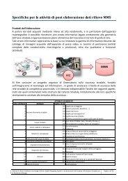 7.3 Specifiche postelaborazione - Facoltà di Pianificazione del ...
