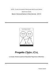 Progetto Open ICU. La terapia intensiva aperta ... - Ospedale Aperto