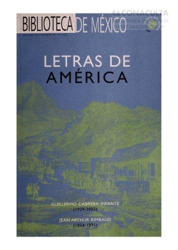LETRAS DE AMÉRICA - Dirección General de Bibliotecas - Consejo ...