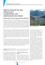 Landschaften und Lebensräume der Alpen - Geomatik Schweiz