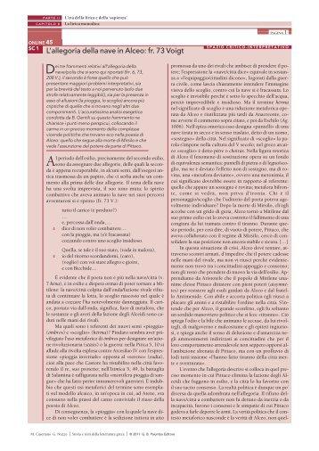 L'allegoria della nave in Alceo: fr. 73 Voigt - Palumbo Editore