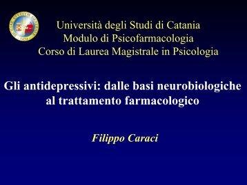 Gli antidepressivi - Università degli Studi di Catania