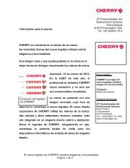 El nuevo logotipo de CHERRY combina elegancia y funcionalidad ...