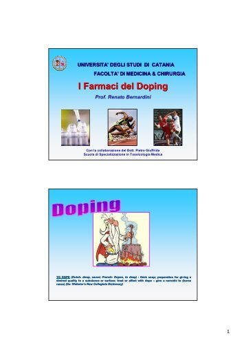 I Farmaci del Doping