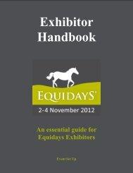 to read the Exhibitor Handbook - Equidays