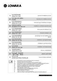 SHF Serie - Series - Série - Lowara