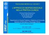 l'approccio biopsicosociale nella pratica clinica - psychiatry.univr.it