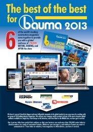 Bauma Munich PREVIEW Publication - Route One Publishing Limited