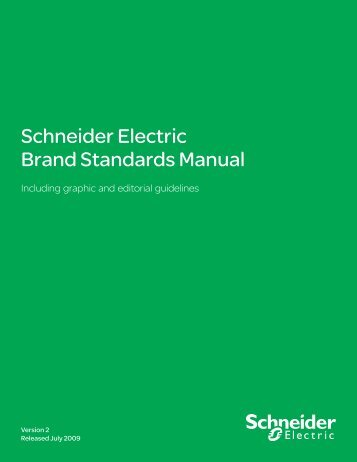 Schneider Electric Brand Standards Manual - Brand Platform ...
