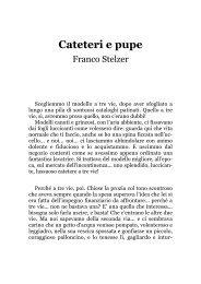 Cateteri e pupe, un racconto di Franco Stelzer - Il primo amore