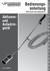 gerät Bedienungs- anleitung - Rothenberger Industrial