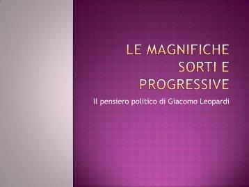Le magnifiche sorti e progressive - Liceo G.D. Romagnosi