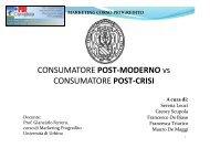 Crisi e modello di consumo - Università di Urbino