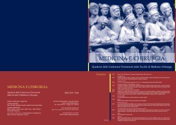 scarica qui il l'intero numero in PDF - Medicina e Chirurgia