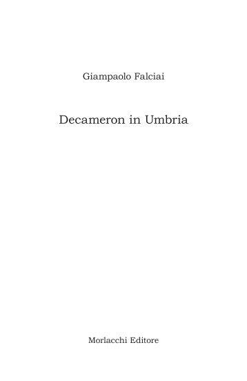 Decameron in Umbria - Morlacchi Editore
