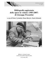 Bibliografia Prezzolini - Sistema bibliotecario ticinese