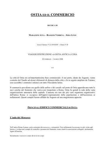 osterie e magazzini di ostia antica - Liceo Classico C.Cavour