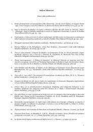 Andrea Tabarroni Elenco delle pubblicazioni 1. Dante 'demonstrator ...