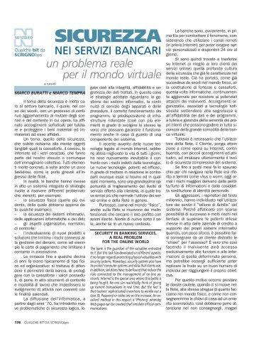 Sicurezza nei servizi bancari, un problema reale per il mondo virtuale