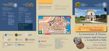 Programma congresso - circolo numismatico pugliese