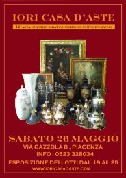 catalogo asta 11 - IORI CASA D'ASTE in Piacenza