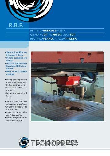 Rectifica plano bancada prensa - Tecnopress