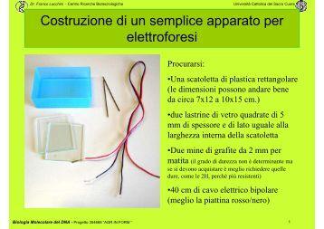 Scampanio elettrostatico for Ottenere un prestito di costruzione