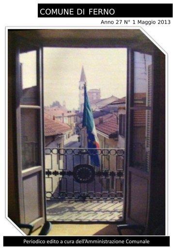 Notiziario Comunale n. 1/2013 - Comune di Ferno